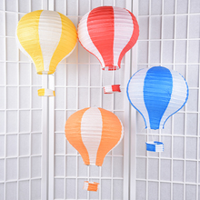 10pcs/lot 12 inch Multicolor Hot Air Balloon Paper Lantern Wishing Lanterns for Birthday Wedding Party Decor Gift(China)