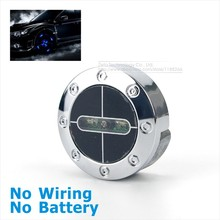 2x Car Decorative lights Waterproof Flash Wheel light Storbe Blue Color LED Car Light Rolling Fire lamp No Wiring No Battery