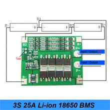 3S 25A 12V BMS 18650 Li-ion Lithium Battery PCM 3S 18650 Lipo Lithium Charger Battery BMS Protection Circuit Board Balance