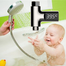 Digital Thermometer Douche Shower Flow Head Water Temp Mornitor 5~85C Celsius Bath Room Self-Generating LED Waterproof Household(China)