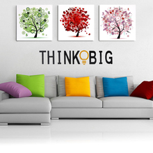 Letter Think Big Quote Wall Stickers Removable Vinyl Home Bedroom Background Wall Decor Stickers for Kids Room