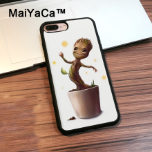 MaiYaCa Baby Groot Guardians of the Galaxys For Apple iPhone 7 Plus Full Protection Phone Case Capa Coque For iPhone 7Plus Case