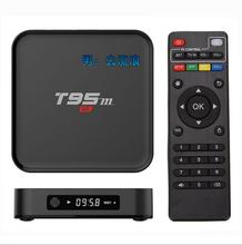 Original T95M TV Box Amlogic S905X Quad Core 64Bit Android 6.0 4K HD Media Player Set Top Box 1GB/2GB 8GB 2.4GHz WiFi BT 4.0