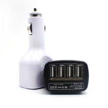 New Design 5V 2.1A LED Light USB 4 Port Car Socket Car Charger Adapter For Apple iPad iPod Samsung Tab Cellphone