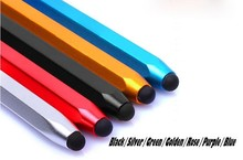 Wholesale Metal Capacitive Touch Pen Stylus For iPhone iPod Touch iPad For samsung Tablet /Blackberry /Motorola 300pcs/lot(China)