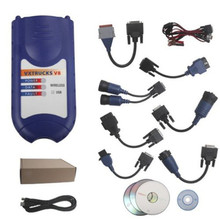 Hot sale VXTRUCKS V8 USB Link Truck Diagnostic Tool Same As Nexiq Usb Link 125032 With Bluetooh For Truck(China)