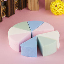 8pcs Triangle Shaped Beauty Candy Color Soft Magic Face Cleaning Cosmetic Puff Cleansing Wash Face Makeup Foundation Sponge Hot