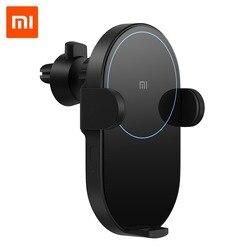 Xiaomi Mi 20 W беспроводное автомобильное зарядное устройство 2.5D стекло Электрическое Авто зажимное кольцо Горит Зарядка для смартфона iPhone