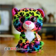 Multicolored Leopard Doll TY Plush Animals Toys Big Eyes Super Cute Stuffed Toy Gifts Store Newest(China)