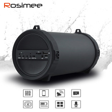 Rosimee 89mm Big Power Outdoor Bluetooth Speaker Wireless Sports Portable Surper Bass Subwoofer Bike Car Speakers Radio FM Mic