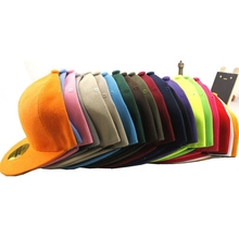 18 Colors 2017 Unisex Snapback Hats Hip-Hop Adjustable Bboy Baseball Cool Cap Hat Visor B-boy Unisex Rap Baseball Cap Flat Visor(China)