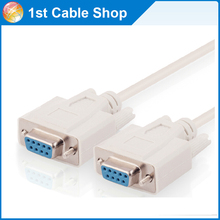 5PCS/lot high quality 5m 15ft  DB9 Serial RS232 cable cord extension cable female to female