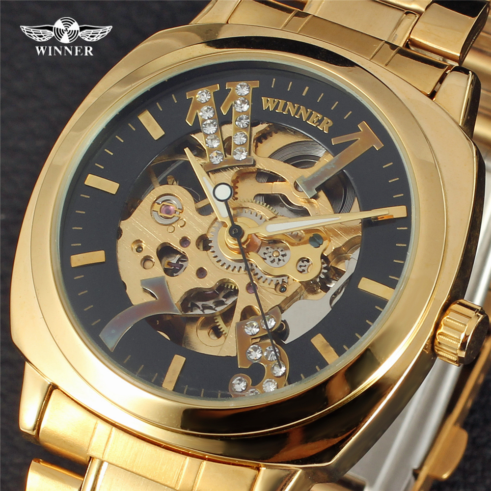 Forsining Watch Men Fashion Relogio Masculino Automatic Mechanical Gold Skeleton Vintage Watch 2017 Mens Watch Top Brand Luxury<br><br>Aliexpress
