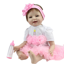 hot sale solid silicone reborn baby dolls wholesale lifelike baby soft dolls fashion doll Christmas gift new year gif
