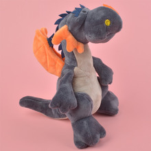 25cm Dark grey Color Dragon Plush Toy for Cute Baby/ Kids Gift, Dinosaur Plush Doll Free Shipping