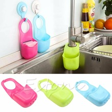 Free Shipping Kitchen Sink Sponge PVC Hanging Shelving Rack Drain Faucet Storage Pail Shelves