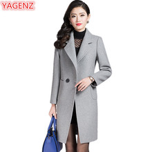 Buy YAGENZ New Winter Clothes Womens Woolen Coat Fashion Slim Women Clothing Large Size Long Section Double breasted Woolen Coat 519 for $60.13 in AliExpress store