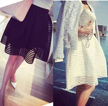 Stylish Women High Waisted Pleated Floral Short Mini Skirt Skater Flared Skirt