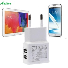 Universal 12W 2.1A 50-60HZ.2 Ports USB Travel Charger Power Adapter EU plug for Galaxy Tab For iPhone Pad