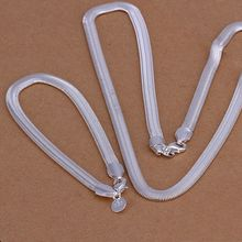 jewelry silver plated jewelry set, fashion jewelry set 6Mm Flat Snake Bone /dglalxsa cotalgaa S084