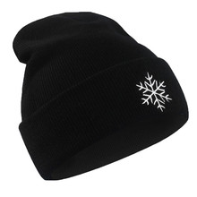 Women Men Winter Hat Unisex Weather Pattern Knitted Hip Hop Warm Baggy Cap Chic Black Knitted Hat Chapeu #BF(China)
