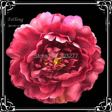 Free shipping!24pcs/lot 6colors for your pick 4''  peony flower silk flower brooch pin hair clip