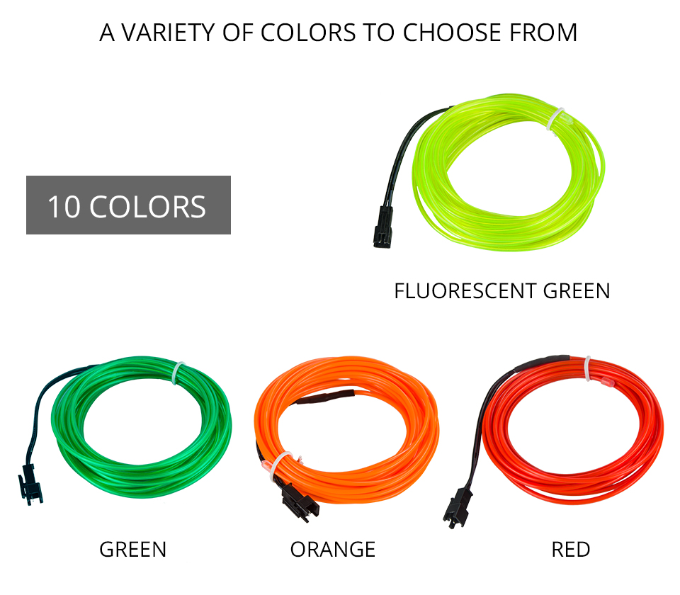 VooVoo 5M 10 Colors Car Styling DIY EL Cold Line Flexible Interior Decoration Moulding Trim Strips Light For Motorcycle and Cars_01 (5)