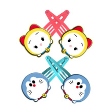 2pcs=1lot Korean Tsum Doraemons Hair Accessories For Girls  Dora A Dream Hair Clip Cartoon Kids Hairpins Hair Ornaments -c