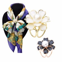 Starry-StylingWomen Lady Flower Scarf Buckle Wedding Brooch Christmas Pins for Silk Scarves Fashion Jewelry Delicate