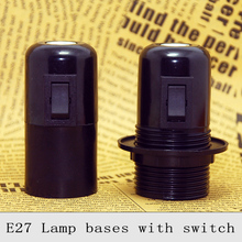 E27 UL Bakelite Lamp Holder Retro Screw Bulb Lamp Socket Vintage Edison Push Button Switch Pendant Light Lamp bases 3PCS/Lot