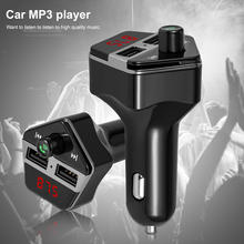 Wireless Bluetooth Car Kit FM Transmitter With Dual USB Charger MP3 Player  Hands-free Modulator Voice Support USB SD DC 12-24v