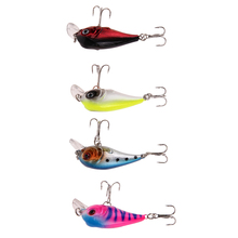 4 Color 5cm 5g Bionic Crankbait 3D Eyes Fishing Lure Unique Body textures Fish Bait 6# Strong Treble Hooks pesca(China)