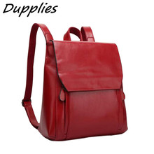 Dupplies Lady Fashion Leather Shoulder Bag Retro backpack Women European Stylish Casual Travel Street Bags