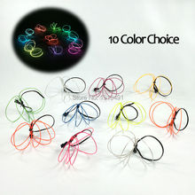 1.3mm 10 Color Choose 2M Car Interior Decorative Thread Flexible LED Strip Neon Light EL Wire Rope Tube+1 Piece Drives