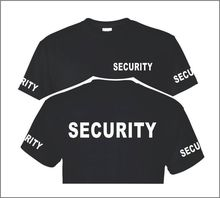 Summer SECURITY POLICE TShirt Custom Screen Printed On Front ,Back ,Sleeves Plus Size S - 3XL Shirts Cotton Army Polices T-Shirt