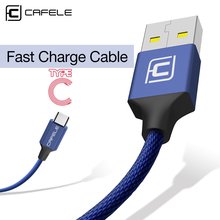 Cafele Type C Usb Cable Samsung Huawei p20 Honor 9 10 Xiaomi Mi8 Mi6 MI5S oneplus Charging Cable Data Sync Usb Cable 5V 2.1A