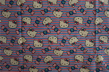 90x140cm Japanese Kawaii Hello Kitty Fabric Kids Girls Kitty Fabrics Cotton Polyester Thick Canvas Materials DIY Handmade Cloth