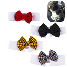 Pet Adjustable Bow Tie Collar Cats Dog Tie Wedding Accessories Dogs Bowtie Collar Holiday Decoration Christmas Grooming