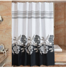 High Quality Arts Shower Curtains Polyester Waterproof Bathroom Shower Curtain America Style Bath Curtain With Hooks