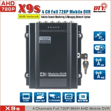 "X9(4CH 720P AHD Mobile DVR)+GPS+7"" Monitor + 500GB HDD + Outdoor cameras* 2pcs + Indoor Cameras* 1pc"