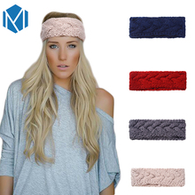 M MISM Women Solid Knitting Elastic Hairband Auturm Warm Turban Headband Girl's Head Wrap Ladies Hair Band Headdress Accessories(China)