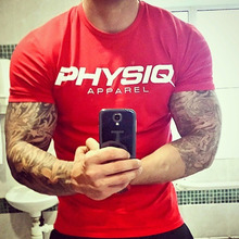 Buy PHYSIQ Brand Mens cotton t shirt 2017 summer new gyms Fitness Bodybuilding Shirts male fashion Casual short Tees Tops clothes for $8.99 in AliExpress store