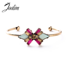 Buy JOOLIM Jewelry Wholesale/2015 Beautiful Flower Women Charm Bracelet Lead & Nickle free Free for $1.28 in AliExpress store