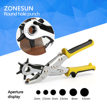 Buy High 1PCS Revolving Leather Punch Eyelet Plier Hole HeavyDuty Canvas Belt Plastic Puncher 6 Sizes for $4.10 in AliExpress store