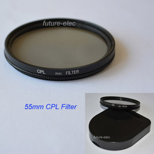 55mm 55 mm CPL C-PL PL-CIR Circular Polarizer Polarizing Filter Lenses Filters For DSLR Digital SLR Camera Camcorder Cam Lens H8