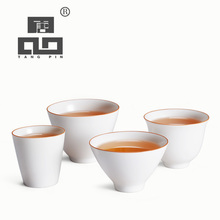 TANGPIN white ceramic tea cup ceramic teacups porcelain cup(China)