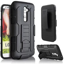 HH 3 in 1 Combo Military Phone Cases For LG G2 D802 D805 D801 D800 D803 LS980 case Belt Clip Holster Armor Shockproof Hard Case