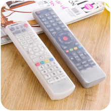 Remote Control Cover Silicone Transparent TV Remote Control Case Air Conditioning Dust Protect Storage Bag(China)