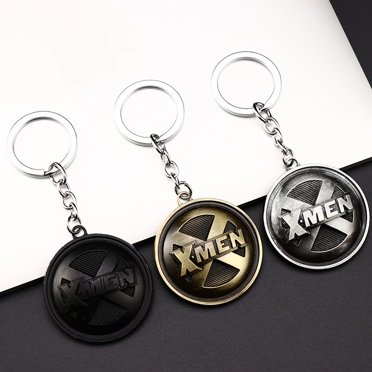 Metal Marvel Avengers Captain America Shield Keychain Spider man Iron man Mask Keychain Toys Hulk Batman Keyring Key Gift Toys (85)