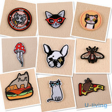 1pcs Mixture Fashion Patch for Clothing Iron on Embroidered Sew Applique Cute Patch Fabric Badge Garment DIY Apparel Accessories